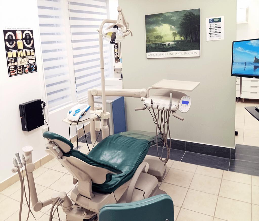 Intérieure clinique dentaire Montréal salle 2